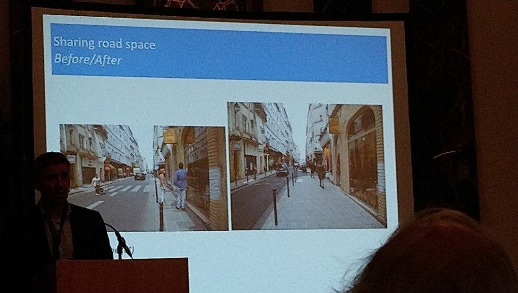 Figure 2: Narrow pavement transformation example from Paris
